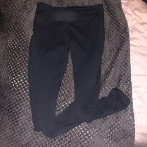 Fabletics mesh cut black leggings